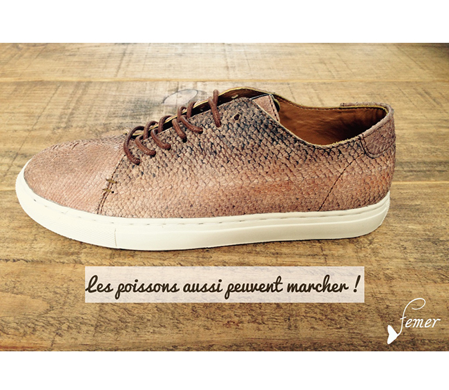 fish leather, someone shoes, france